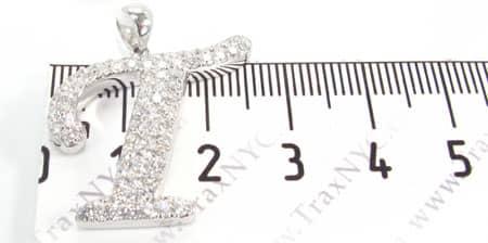 Frozen Initial T Pendant 4976 Metal