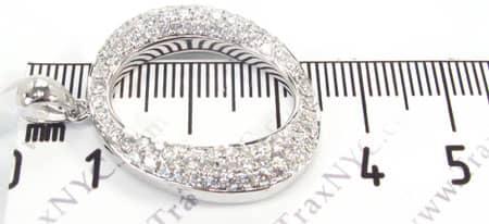Frozen Initial O Pendant 4981 Metal