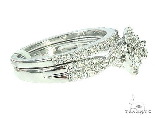 14K Gold Prong Diamond Engagement Ring Set 65738 Style