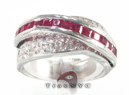 Ruby Swirl Ring Anniversary/Fashion