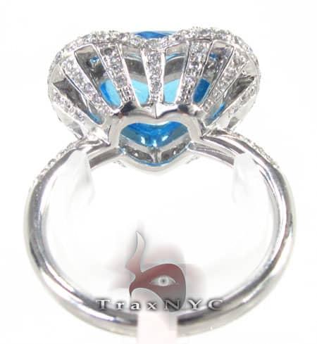 Blue Topaz Heart Ring Anniversary/Fashion