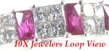 2 Row Prong Ruby Ring Anniversary/Fashion