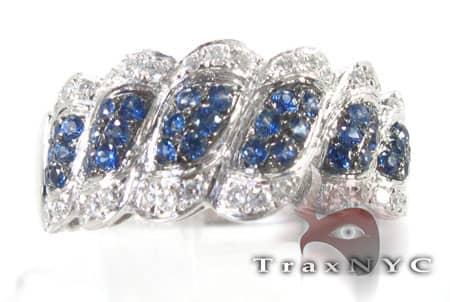 Micro Blue Sapphire Ring Anniversary/Fashion