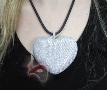 Bubble Heart Pendant Stone