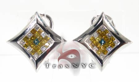 Ninja Star Earrings Stone