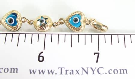 Evil Eye Bracelet Gold