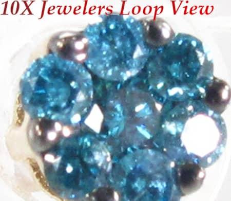 Ocean Blue Flower Earrings Style