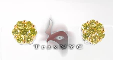 Canary Flower Earrings 2 Style
