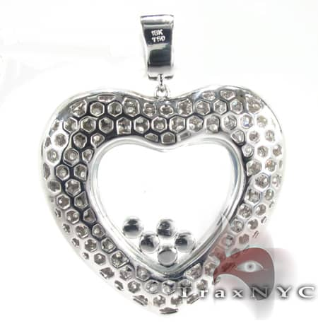 Floating Heart Pendant Stone