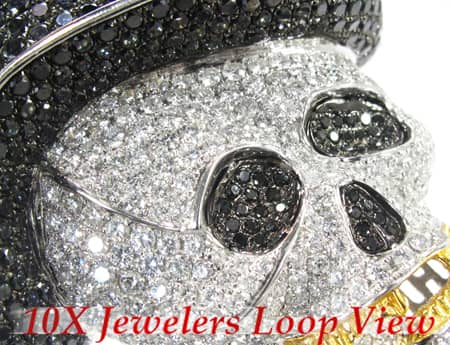Custom Jewelry - Rich Boy Skull Pendant Style