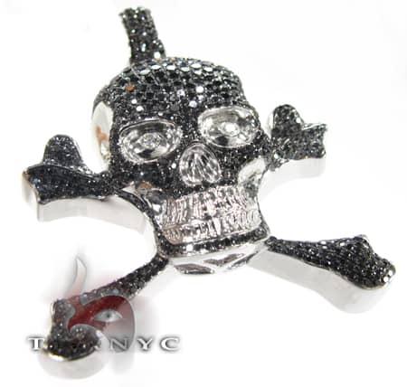 Black Skeletal Pendant Style