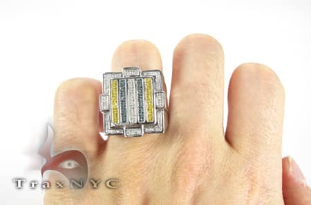 Multicolored Bar Ring Stone