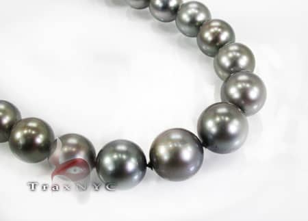 Tahitian Black Pearl Necklace 18 inches Pearl