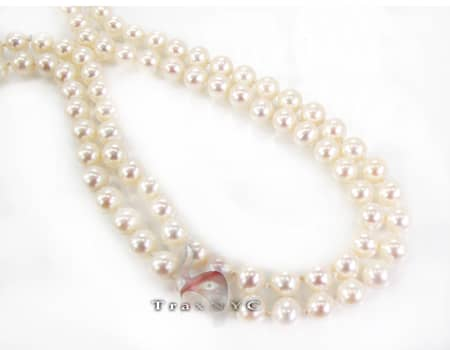 2 Row Pearl Necklace Pearl