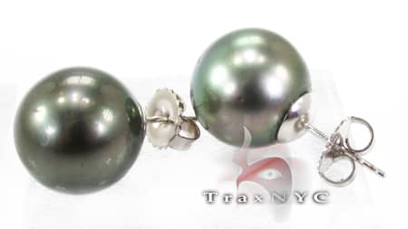 Tahitian Pearl Earrings Stone