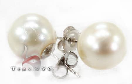 South Sea Pearl Earrings Stone