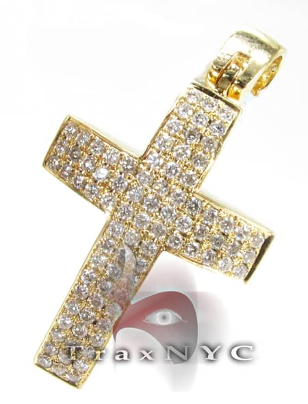 Yellow Timeless Cross Crucifix Diamond