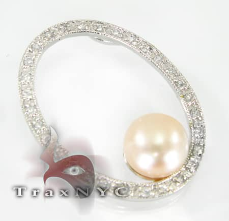Oval Pearl Sterling Silver Pendant Metal