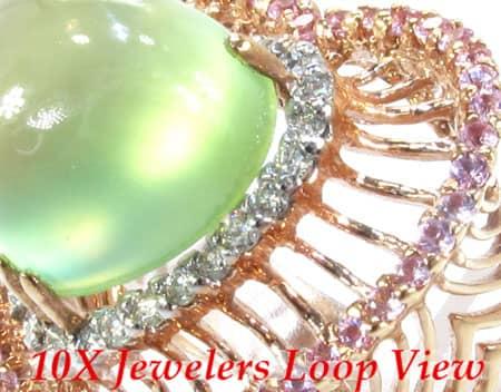 Colored Sapphire & Sphalerite Heart Ring Anniversary/Fashion