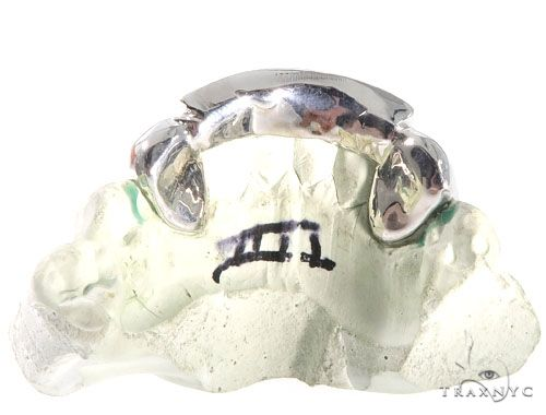 6 Teeth Princess Cut Diamond Grillz 64156 Men Specials