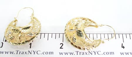 Golden Crescent Earrings Metal