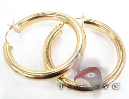 Golden Bangle Earrings Metal