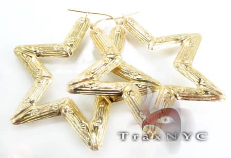 Golden Star Earrings 2 Metal