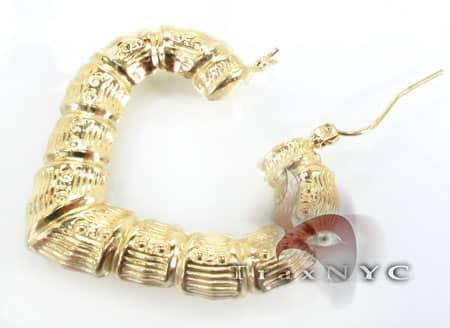 Golden Heart Earrings 3 Metal