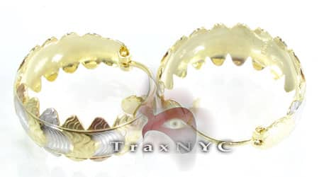 Golden Wreath Earrings 3 Metal