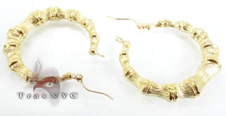 Golden Bead Earrings Metal