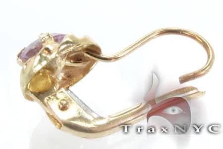 Golden Purple Studs Metal