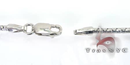 White Gold Snake Link n 14K 16 Inches, 2mm, 4.7 Grams Gold