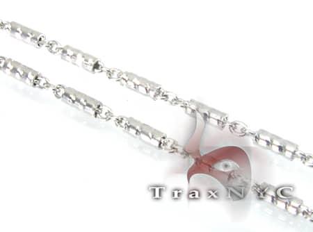 14K White Gold Hammer Chain 4 16in Gold
