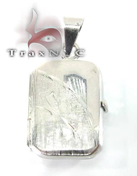 Solid White Gold Locket Metal