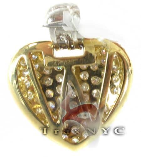 Golden Studded Heart Pendant Stone