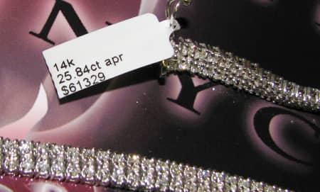 2 Row Tennis Chain 34 Inches, 93.3 Grams Hip Hop Chains