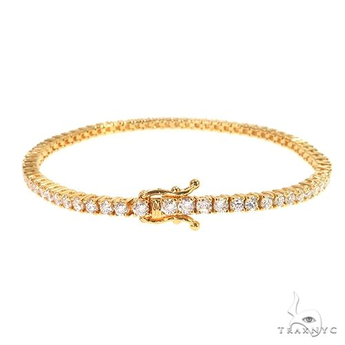 7 Pointer Parcel Diamond Tennis Bracelet 66785 Diamond
