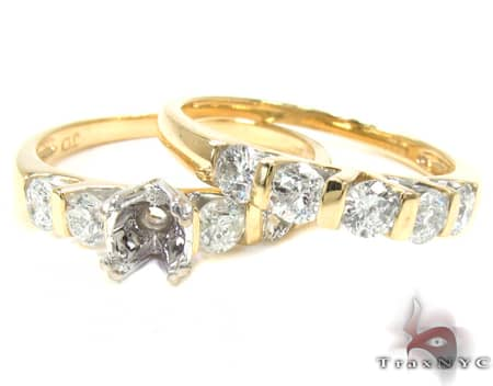Yellow Light Ray Semi Mount Set Engagement