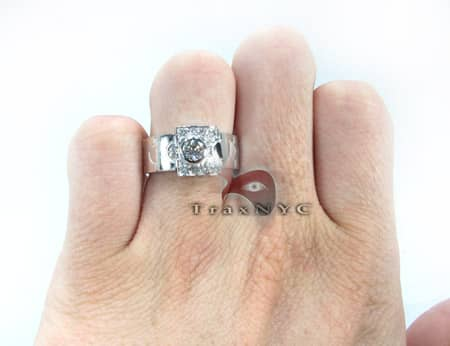 18K White Gold & Diamond Apostle Ring Anniversary/Fashion