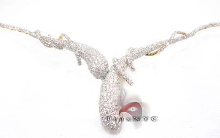 14k Yellow Gold Illusion Necklace Diamond