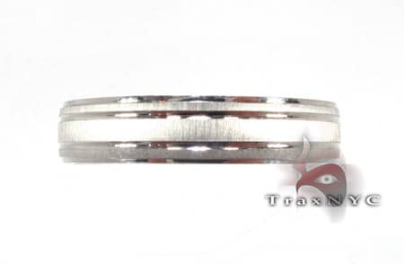 White Gold Multi Strip Band Style