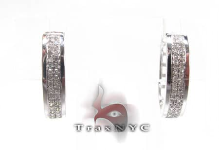 Diamond Hoop Earring Stone