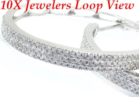 Thin Diamond Hoops Style
