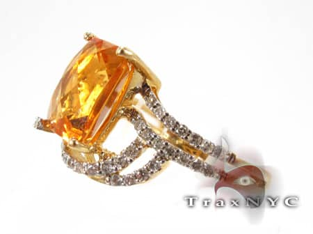 Square Citrine Ring Anniversary/Fashion