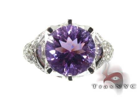 Amethyst & Diamond Ring 2 Anniversary/Fashion