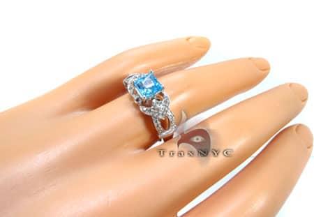 Ladies Diamond Topaz Ring 2 Anniversary/Fashion