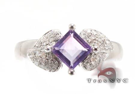 Square Amethyst Ring Anniversary/Fashion