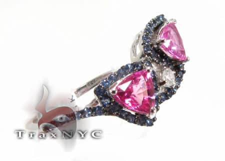 Sapphire & Amethyst Outline Ring Anniversary/Fashion