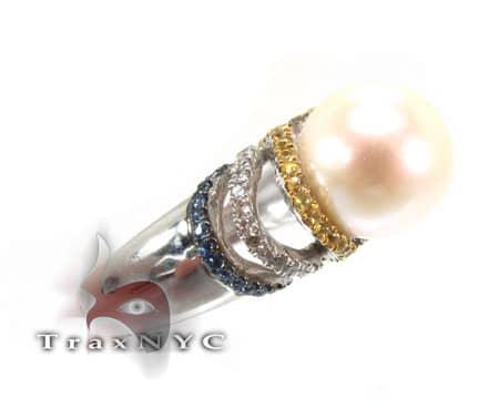 Ladies Pearl Ring Anniversary/Fashion