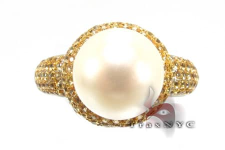 Ladies White Sparrow Pearl Ring 2 Anniversary/Fashion